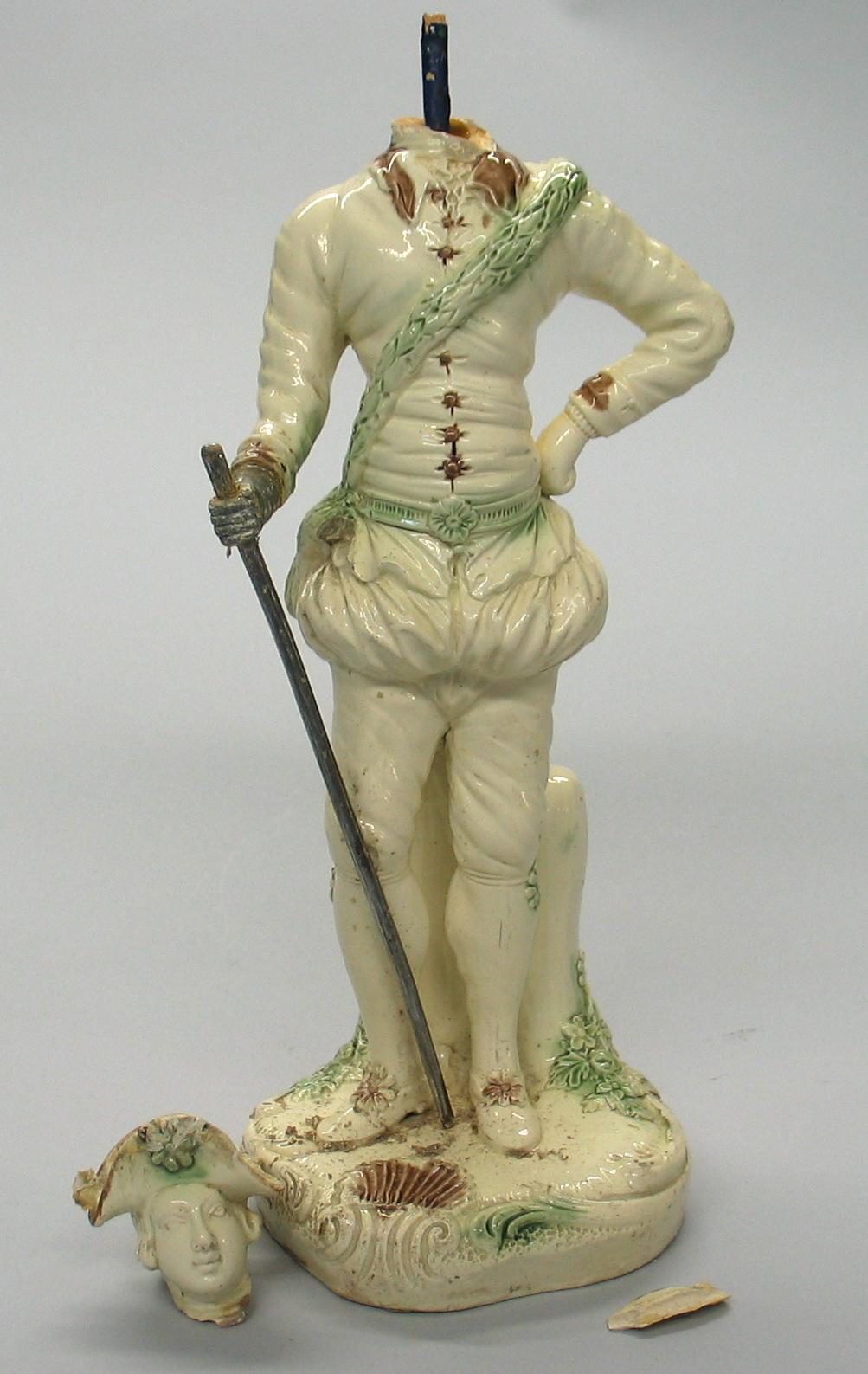 Astbury-Whieldon Figure of a Cavalier, ca. 1745