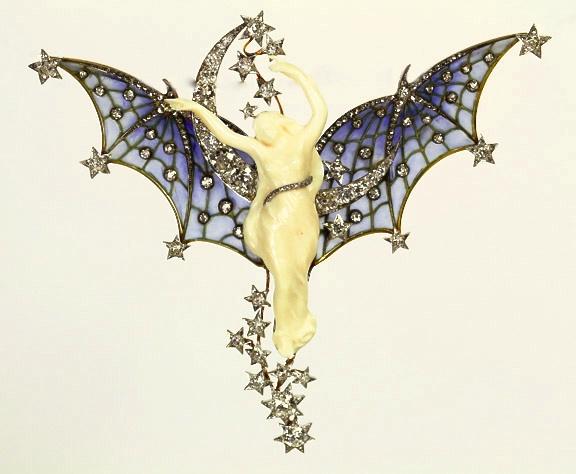 Brooch. Platinum, Gold Diamonds and Plique-à-jour Enamel. Jewelry Repair.