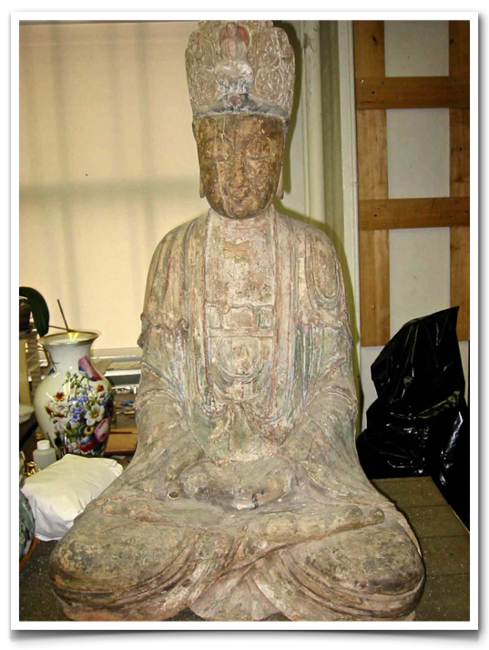 Carved Wood. Bodhisattva