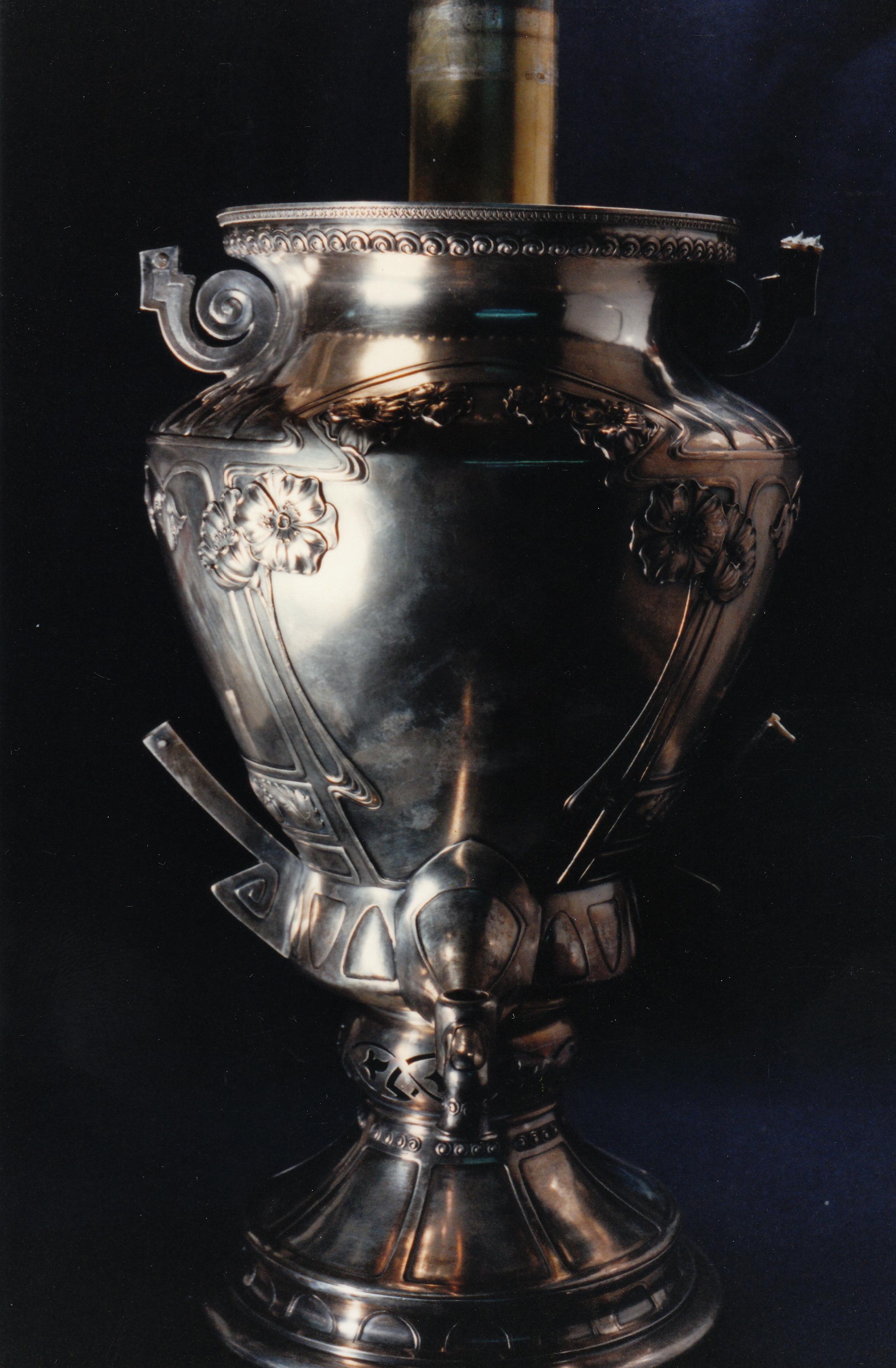 Faberge Silver Samovar