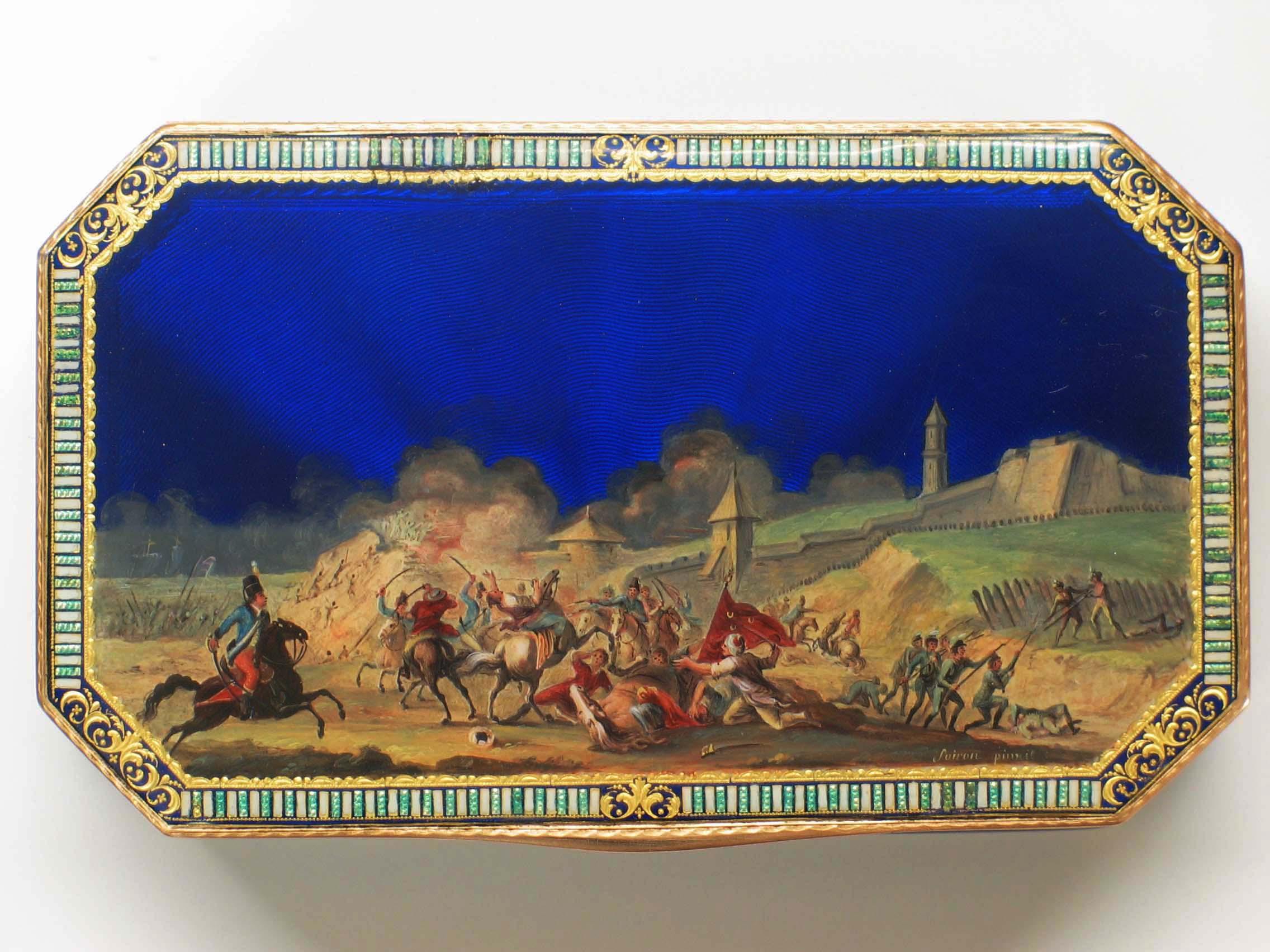 Enamel on Gold Box. France, circa 1800
