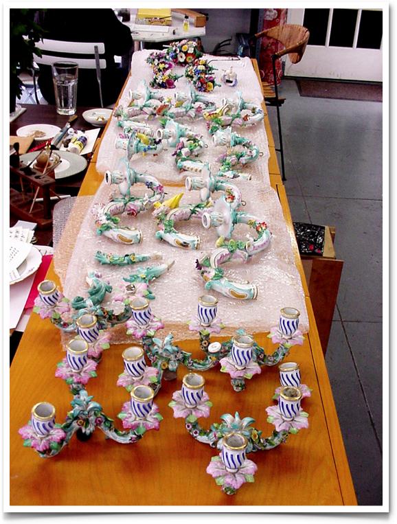 Meissen porcelain chandelier