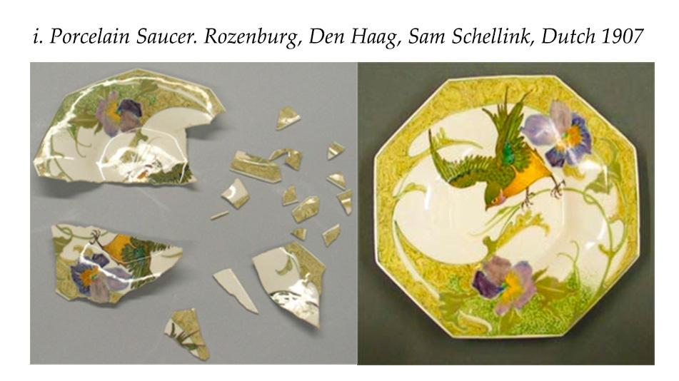 Porcelain Saucer. Rozenburg, Den Haag, Sam Schellink, Dutch 1907