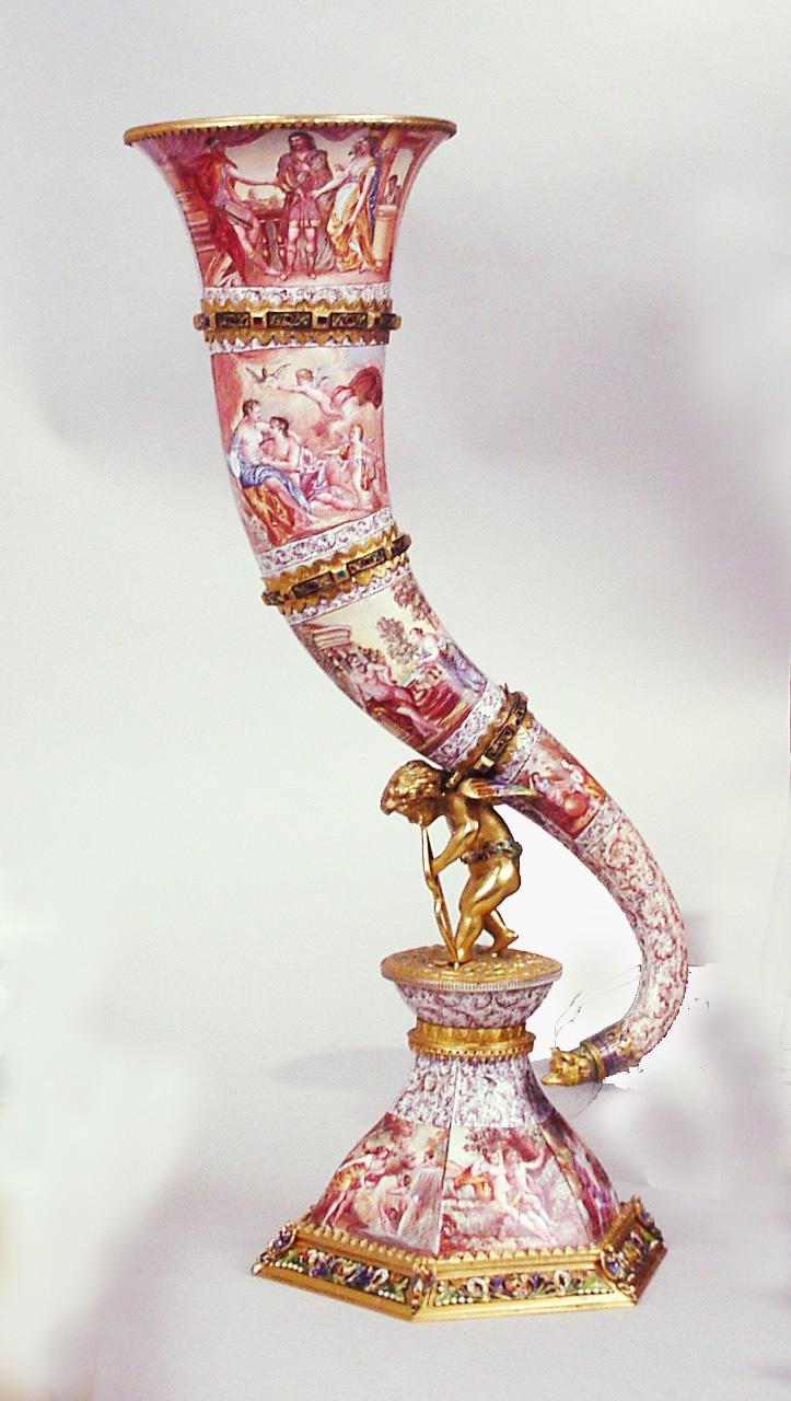 Viennese Enamel Horn of Planty