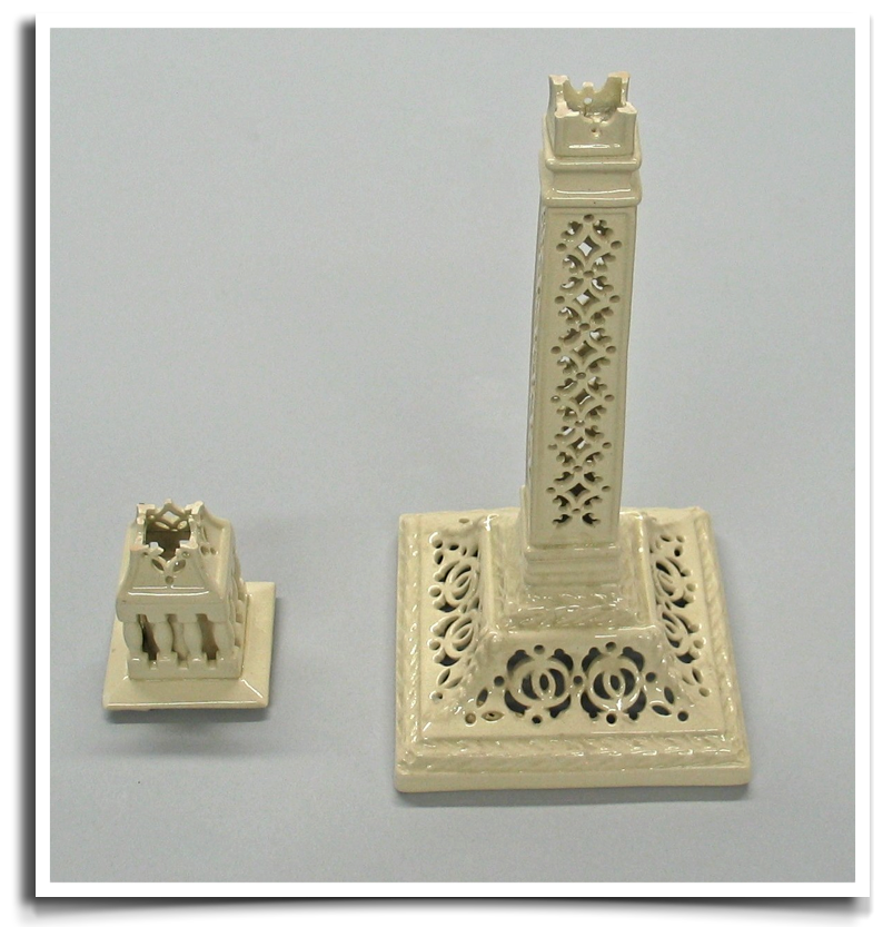 18th Century Leeds Pottery creamware reticulated candlestick