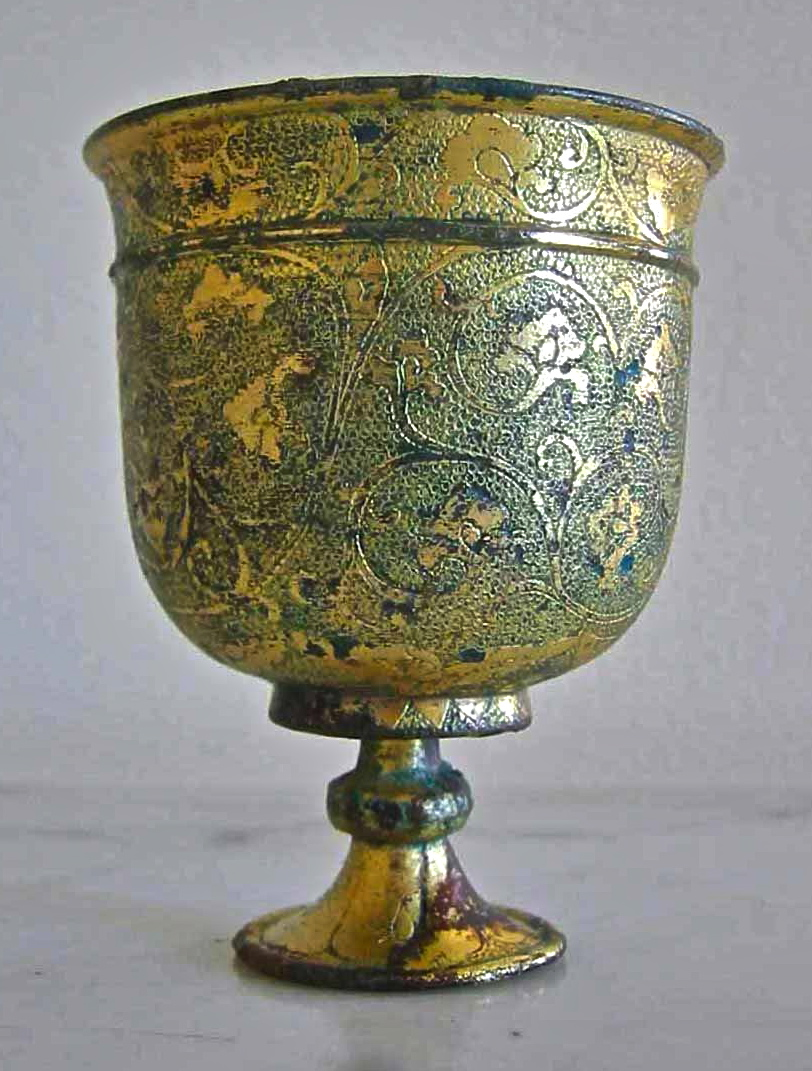 Ancient Chinese Bronze Wine Cup