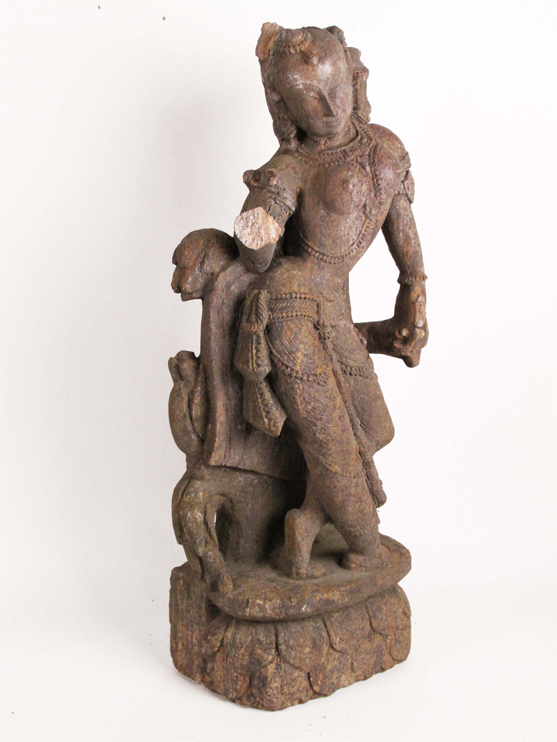 Ancient Indian Hindu Sandstone Statue  - 11th Century