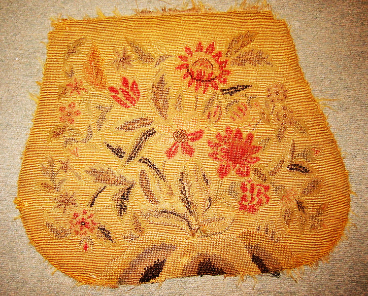 Antique Needlepoint Chair Upholstery