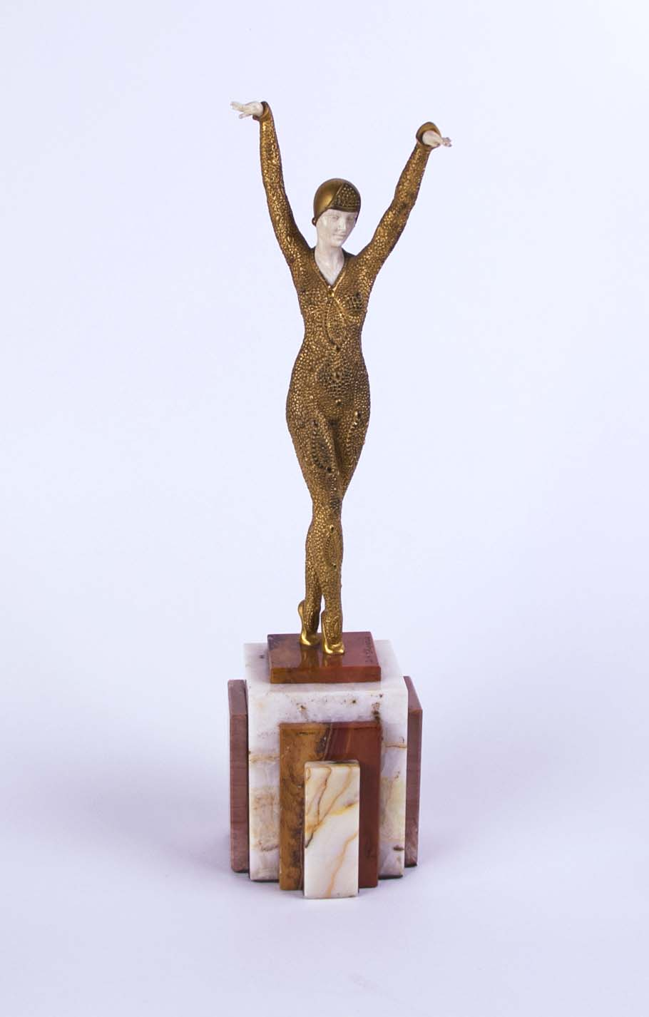Art Deco bronze and ivory figure, Durga, by Chiparus