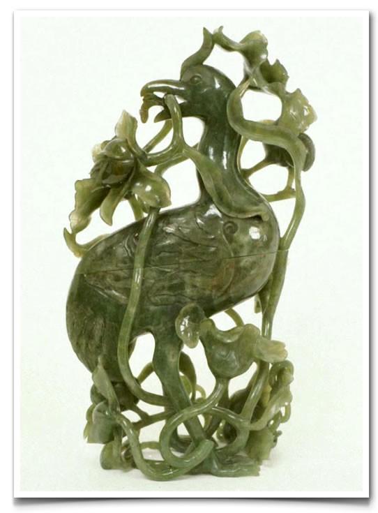 Carved Jade Box