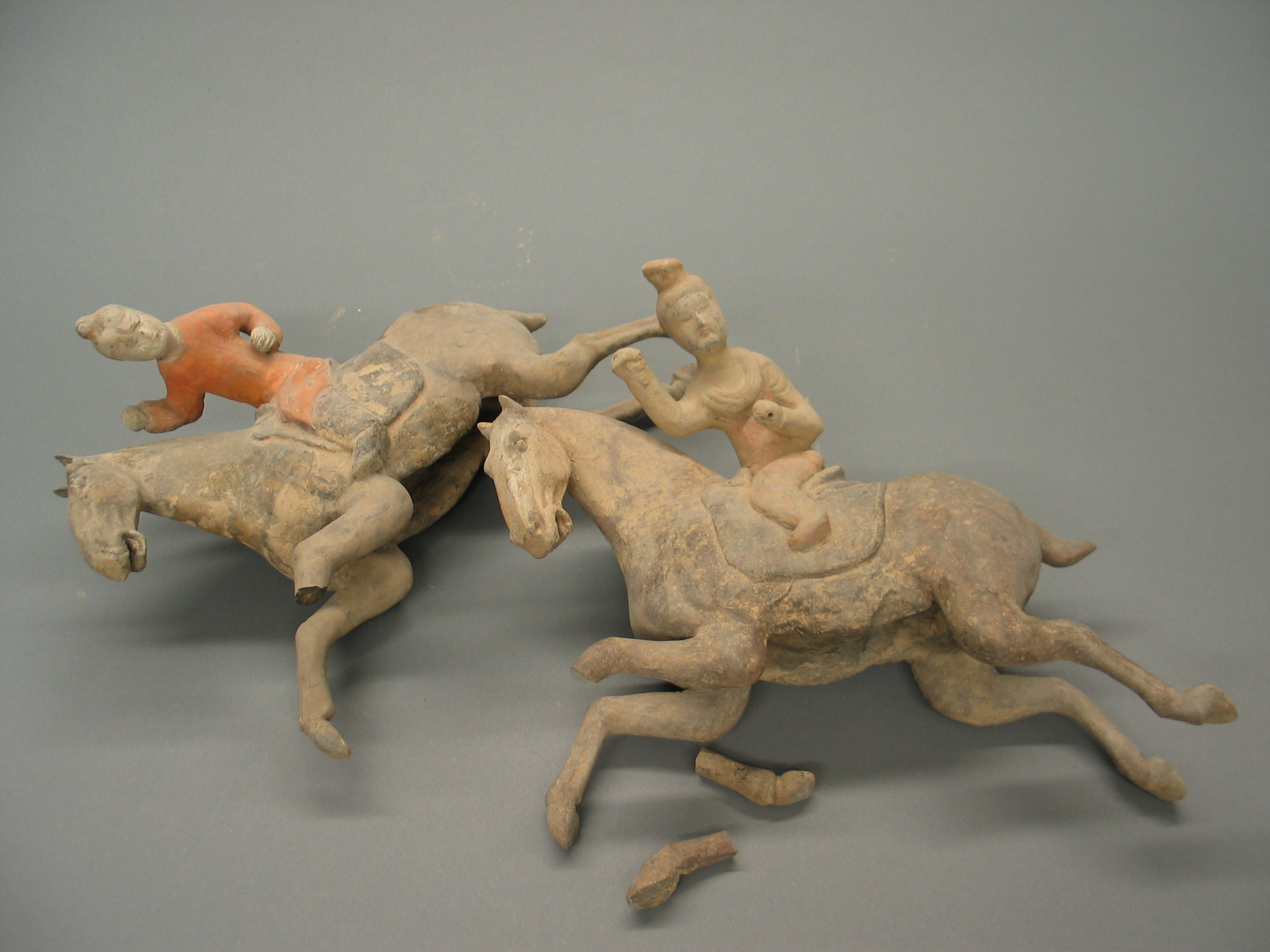 Ceramic Horse and Riders. Tang Dynasty (618 - 907)