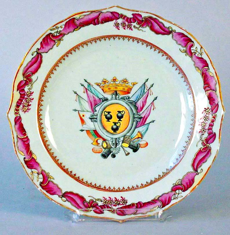 Chinese Export Armorial Plate 5