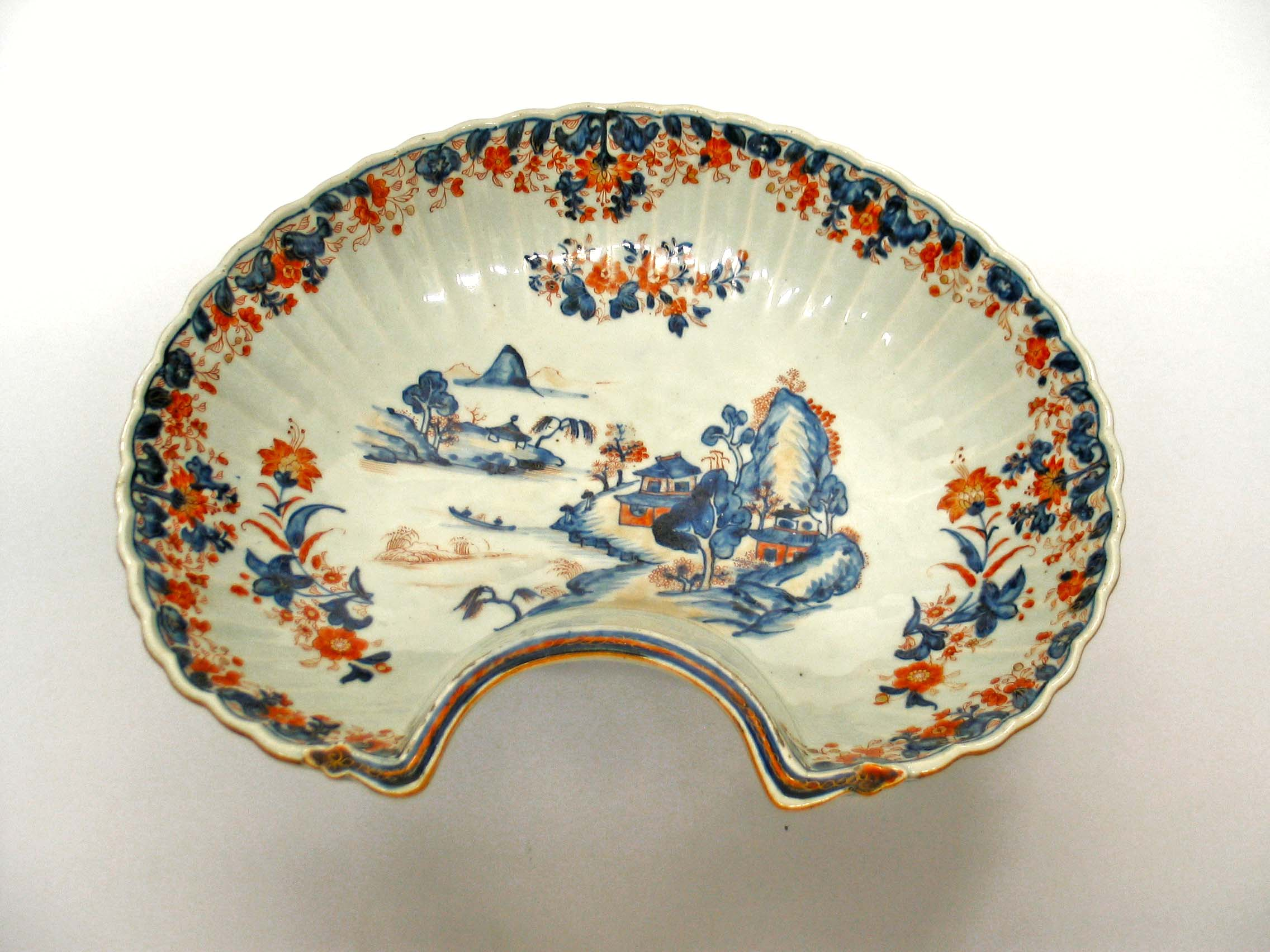 Chinese Export Shaving Bowl