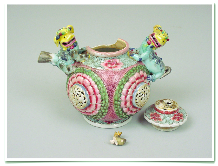 Chinese Export Sugar Bowl