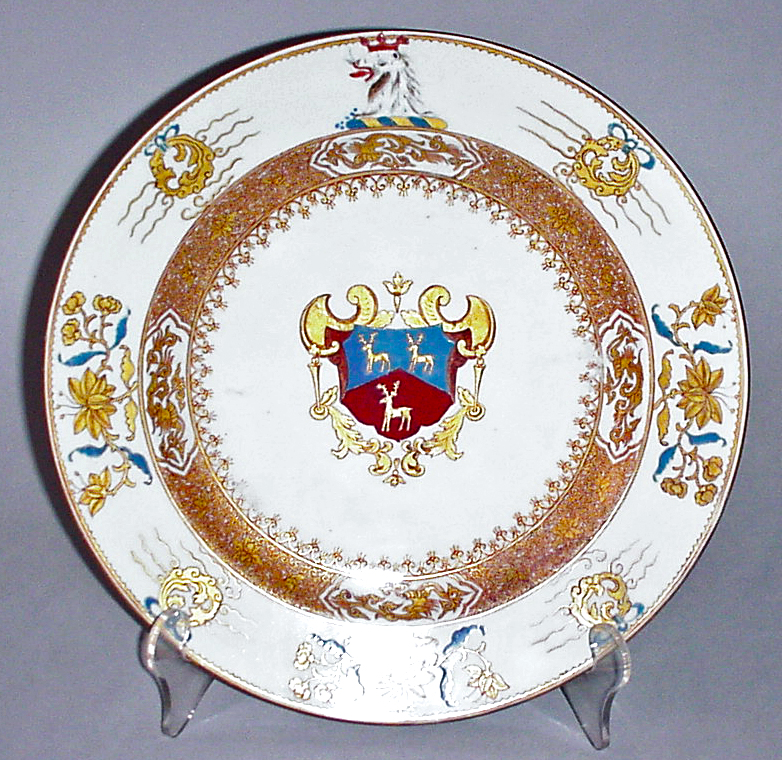 Chinese export porcelain Armorial Plate 3