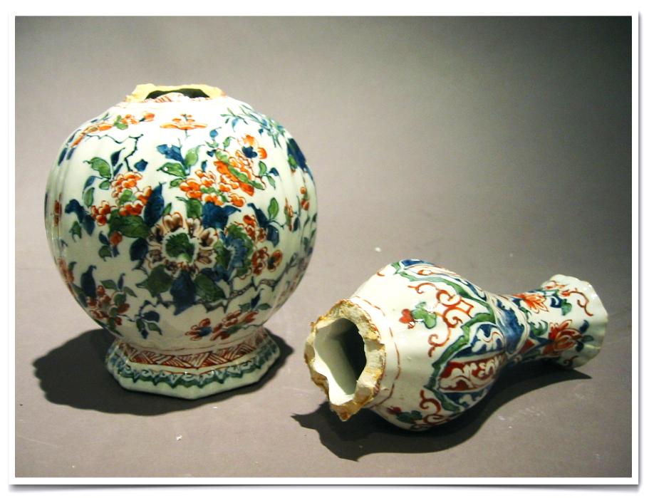 Delft Porcelain Vase.