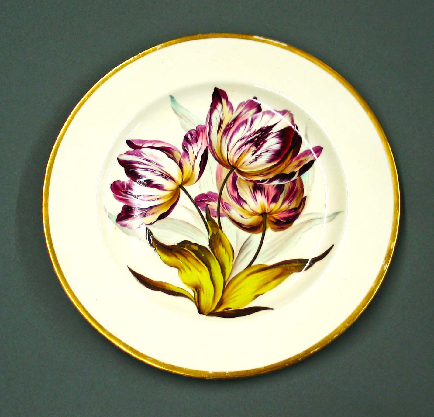 Derby Porcelain Plate. Ceramic Restoration.