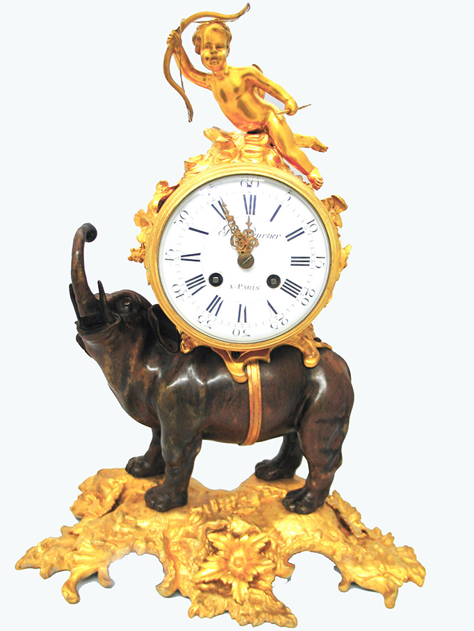 French Bronze Clock