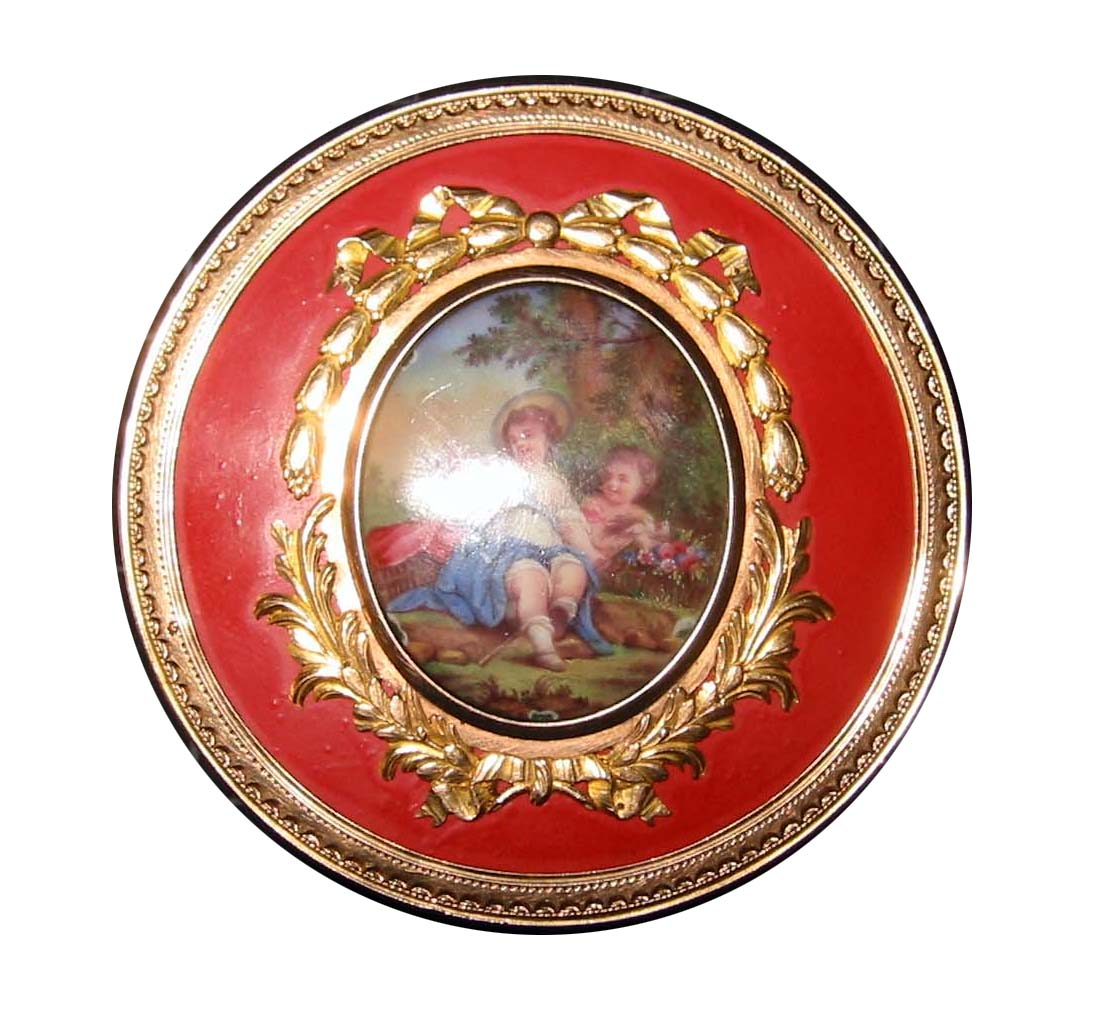 French Enamel Gold Box _2