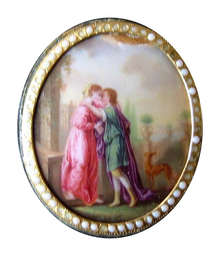Enamel on Gold Box. France, circa 1800