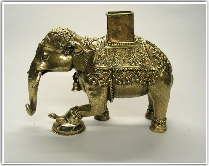Indian Bronze Elephant Statue