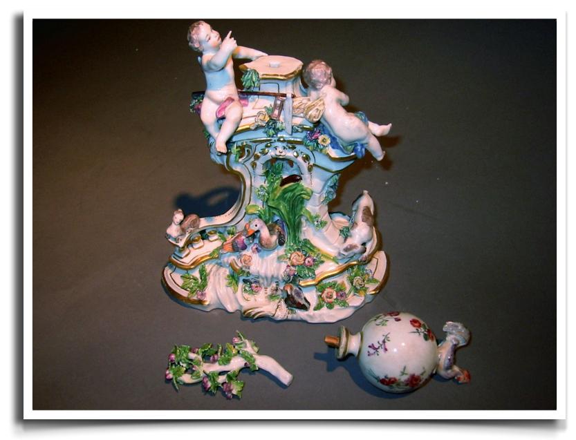 Meissen Porcelain Clock