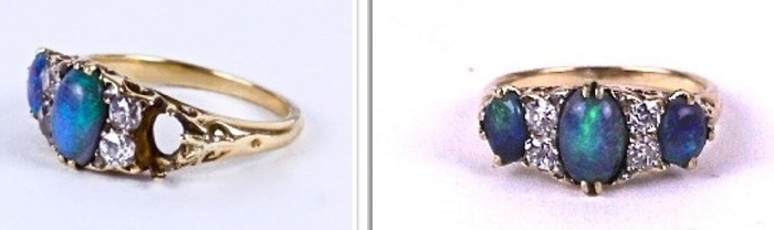 Opal Ring, Vintage Jewelry