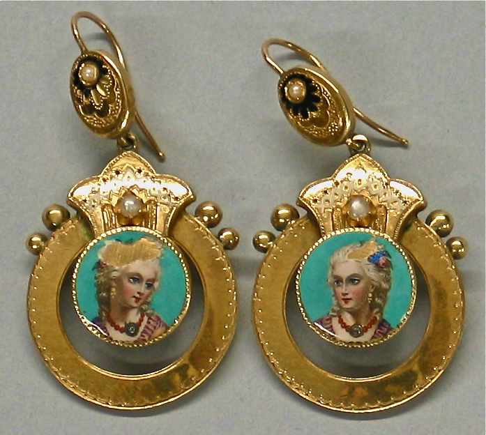 Pair of Gold and Enamel Earrings. Jewelry Repair and Restoration