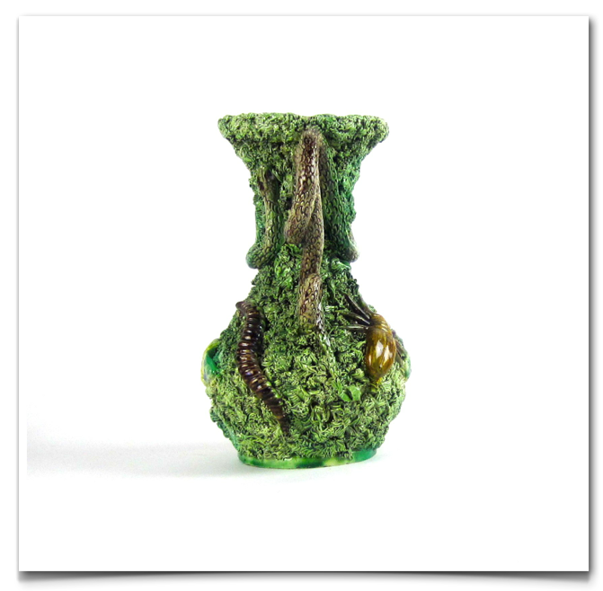 Palissy Ceramic Vase 19th Century