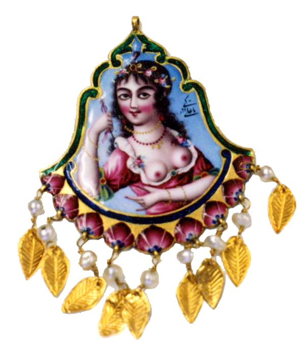 Pendant. Persian Qajar Dynasty. Jewelry Repair and Restoration.