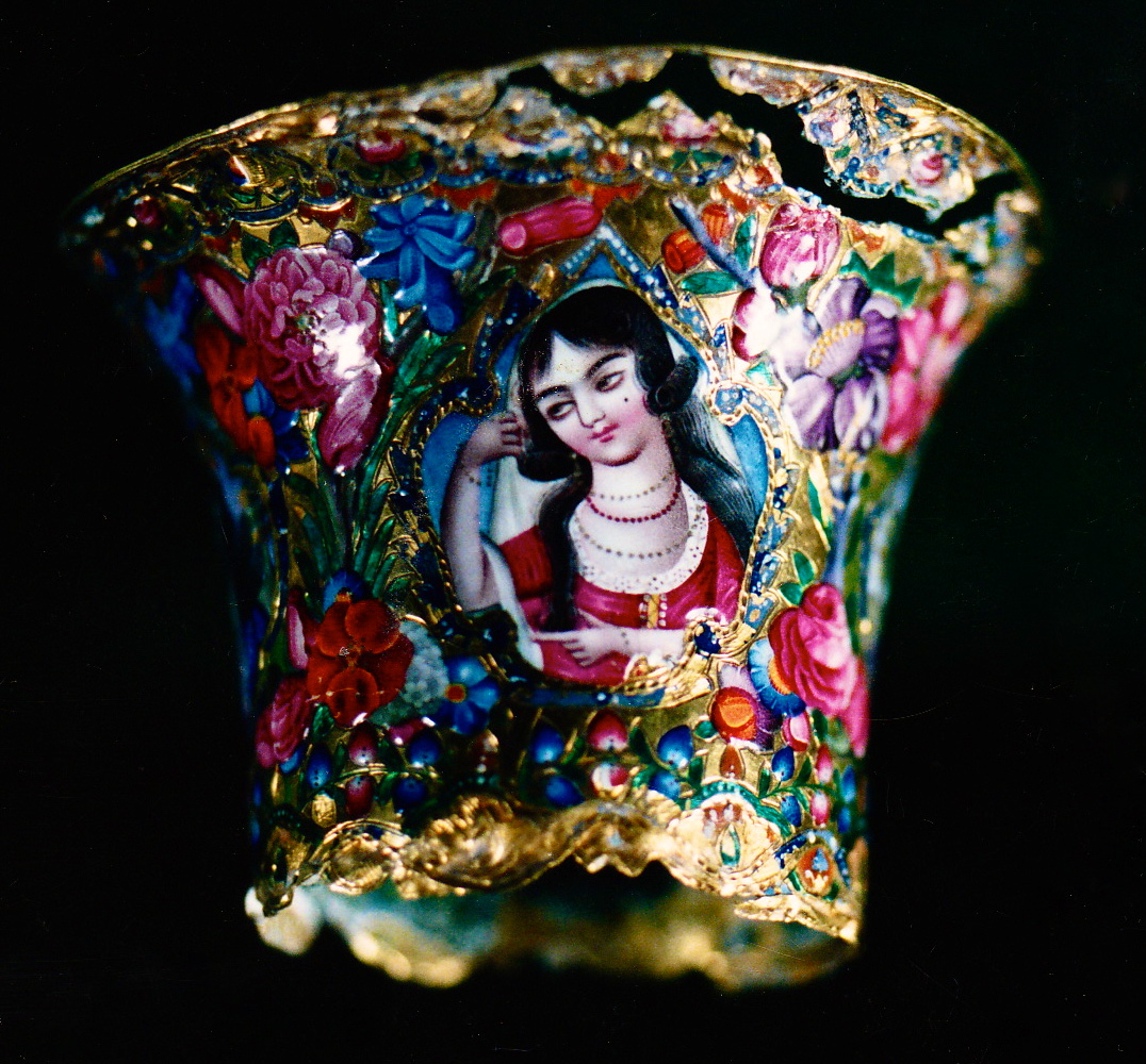 Enamel on gold. Persian, Qajar Dynasty
