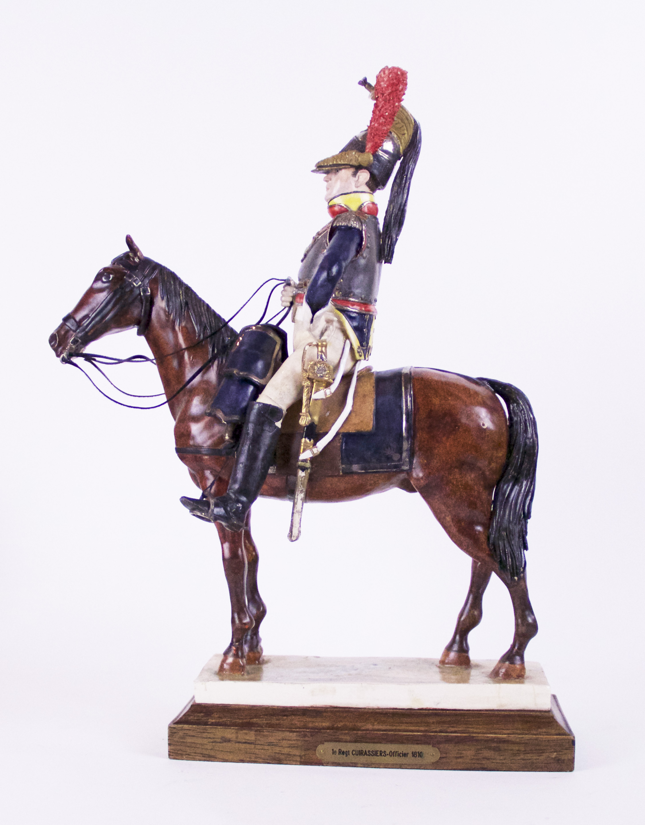 Porcelain Equestrian Sculpture of A Hussar