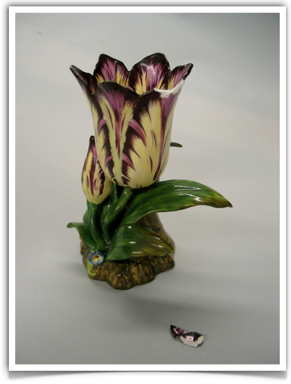 Porcelain Tulip. English, ca. 1830