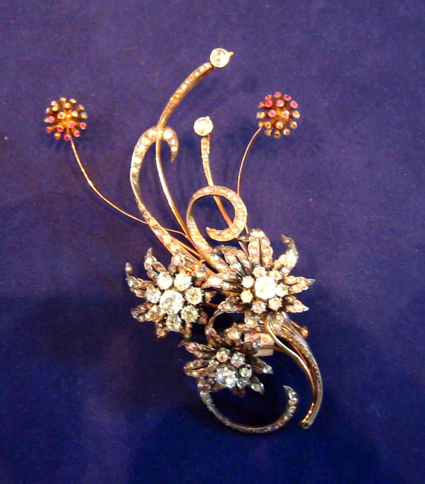 Spanish Flower Brooch. Jewelry Repair and Restoration