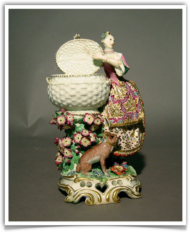 The Chelsea porcelain manufactory.Gold anchor period (1756-1769) Pandora
