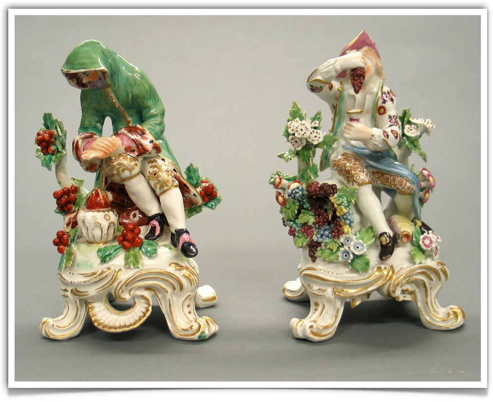 The Chelsea porcelain manufactory.Gold anchor period (1756-1769) Seasons