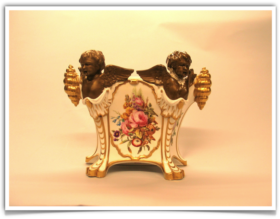 Worcester Porcelain Chamberlain Period Porcelain Cachepot